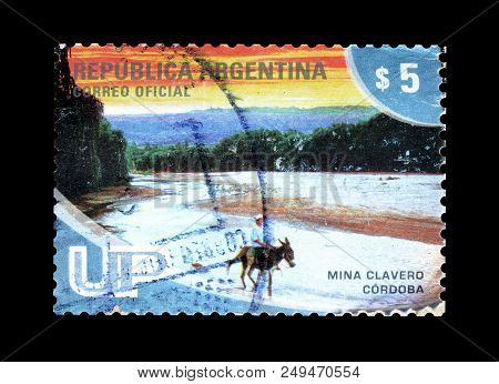 Argentina - Circa 2008 : Cancelled Postage Stamp Printed By Argentina, That Promotes Tourist Attract