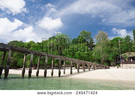 Beautiful Tropical White Sand Beach At Samed Island , Thailand