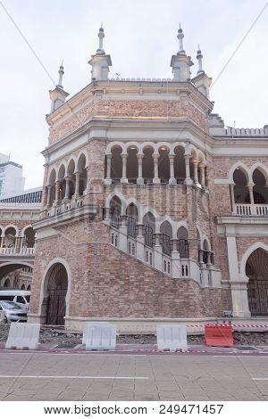Detail Of Sultan Abdul Samad Building At Kuala Lumpur, Malaysia