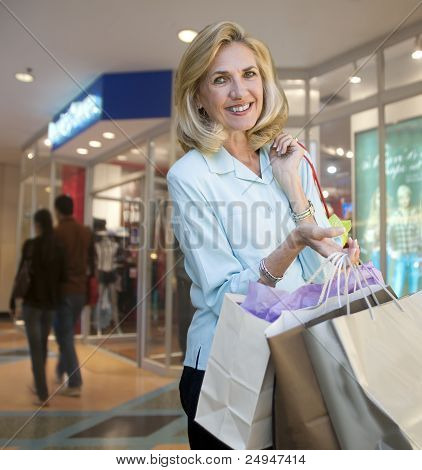 Mature Woman Out Shopping