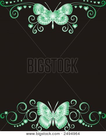 Butterfly Abstract Frame