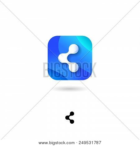 Share, Ui Icon. Sharing, Social Media, Distribute Emblem. Share, Communication Pictogram. Share Symb