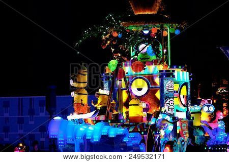 Osaka. Japan - July 15, 2018: New Revolutionary Night Parade Of Universal Spectacle Night Parade At