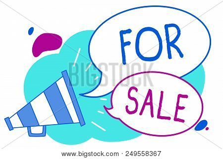 Conceptual Hand Writing Showing For Sale. Business Photo Text Putting Property House Vehicle Availab