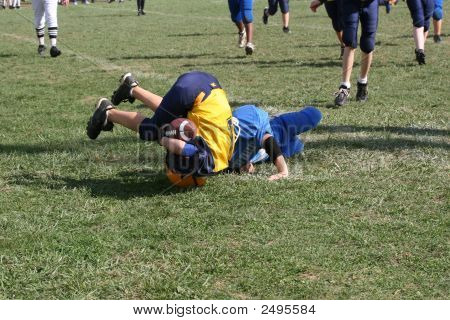 Teen Youth Football Tackle