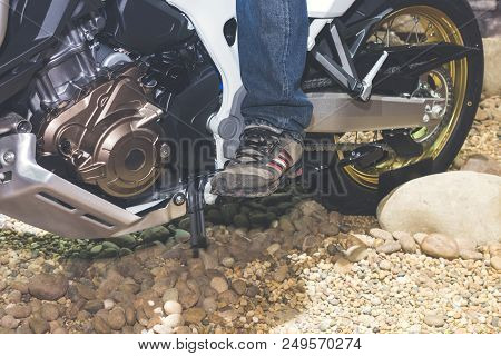 Man On Motorcycle, Motorcross Speed Wheel Outdoor