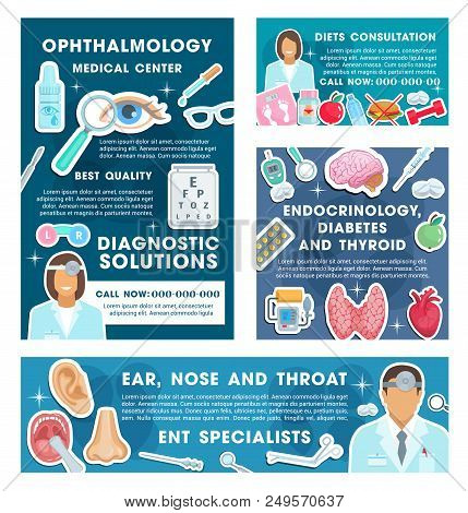 Medical Posters Specialists In Ophthalmology And Endocrinology. Professional Consultations On Ear, N