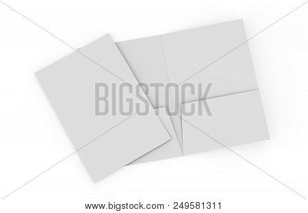 A4 Pocket Folder On Isolated White Background, 3d Illustration