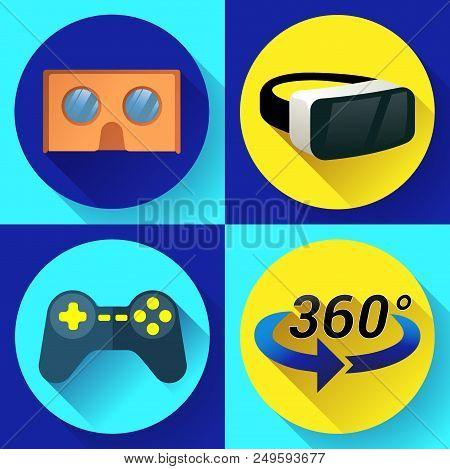 Vr Glasses Icon Or Virtual Reality Helmet Icon Vector. Flat Virtual Reality Headset Icon For Compute