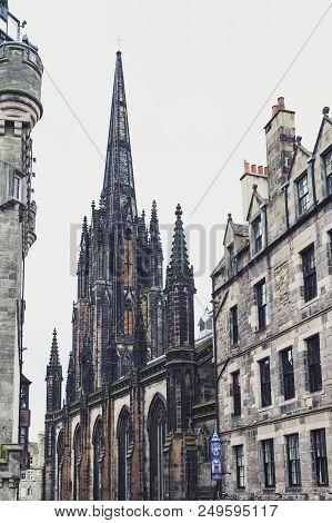 Edinburgh, Scotland - April 2018: Tron Kirk, Former Gothic Church, Now Functioned As The Hub, Venue
