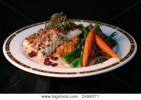 Cranberry Halibut