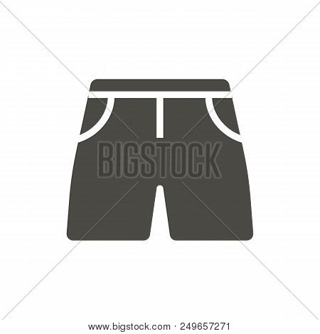 Shorts Icon Vector. Summer Clothes Symbol Isolated. Trendy Flat Ui Sign Design. Graphic Shorts Picto