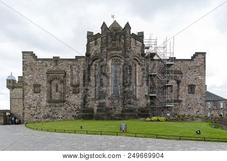 Edinburgh, Scotland - April 2018: The Scottish National War Memorial Housed In A Redeveloped Barrack