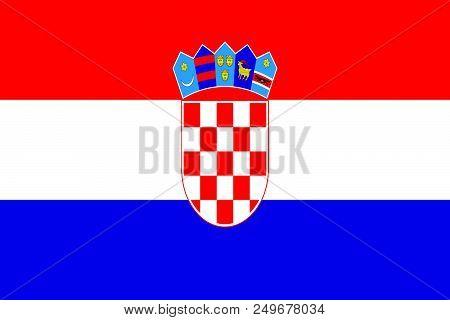 croatian flag illustration - Croatia flag vector - republic of Croatia poster