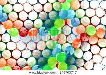 Backgrounds and Textures. Plastic Straws layered creating an interesting 3-D textured photo background. Computer Wallpaper and Backgrounds for various uses.