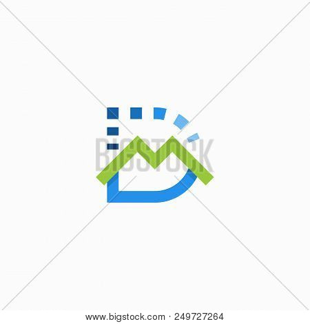 Letter D M Logo Vector Illustration Isolated On White Background