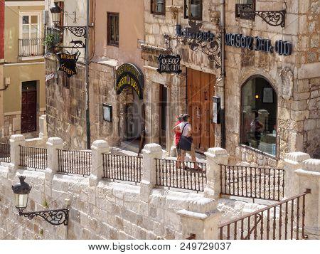 The Mesón Del Cid And Mesón La Cueva Restaurants At St. Mary Square - Burgos, Castile And Leon, Spai