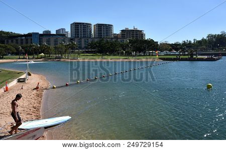 Darwin, Australia - Jun 17, 2018. View Of Darwin Waterfront, Which Is A Popular Area For Locals And