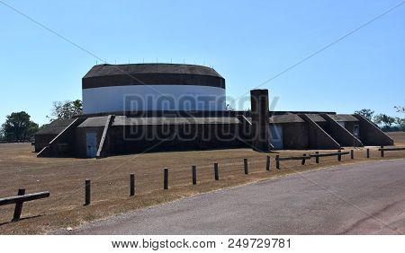 Darwin, Australia - Jun 17, 2018. Darwin Military Museum And The Gun Turret Precinct Incorporates Mu