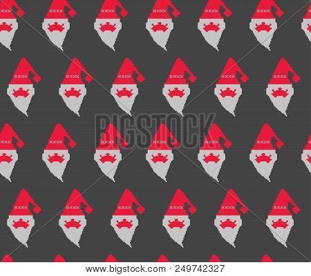 Santa Claus Pattern, Christmas Seamless Pattern, Background With Santa Claus, Christmas Paper Wrappe