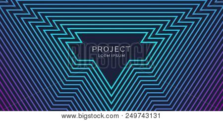 Vector Abstract Background With Divergent Lines From The Center. Illustration For Your Text
