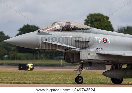 Raf Fairford, Gloucestershire, Uk - July 13, 2014: Royal Air Force (raf) Eurofighter Ef-2000 Typhoon