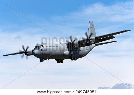 Raf Fairford, Gloucestershire, Uk - July 10, 2014: Royal Norwegian Air Force (luftforsvaret) Lockhee