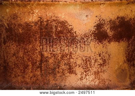 Red Rust Pattern On Metal Barrel