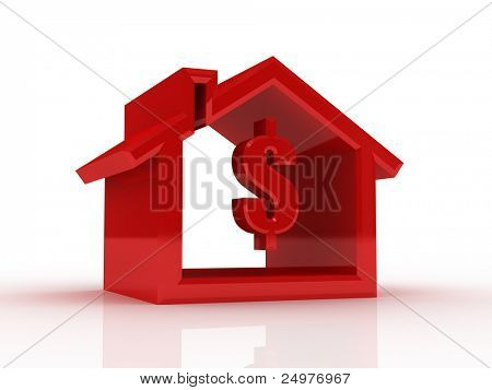 house silhouette with dollar sign