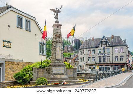 La Roche En Ardenne,belgium - May 16,2018 - World War Monument In La Roche En Ardenne. La Roche-en-a
