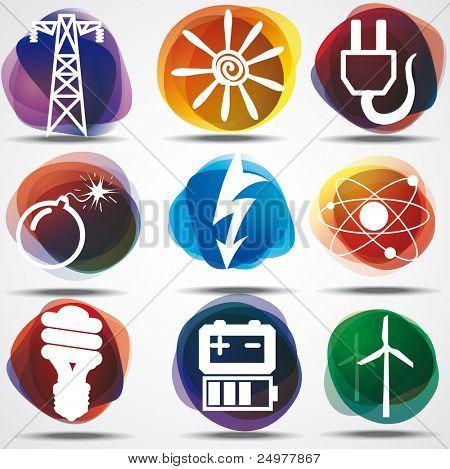 Energy Symbols Set. poster