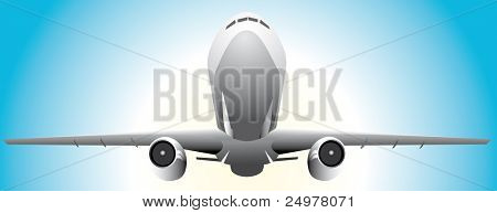 Airplane take off  Vector.
