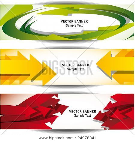 Abstract Arrow Web Banners