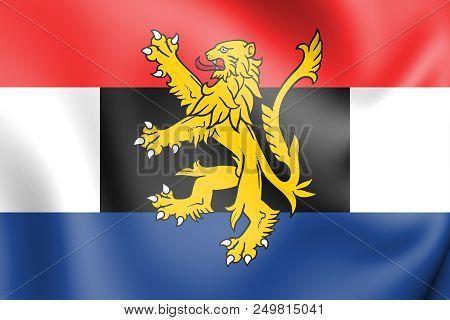 3d Flag Of Benelux. 3d Illustration. Front View.