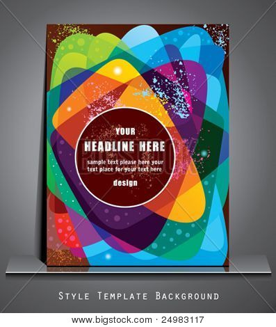 Style template.   Abstract background. Book cover.