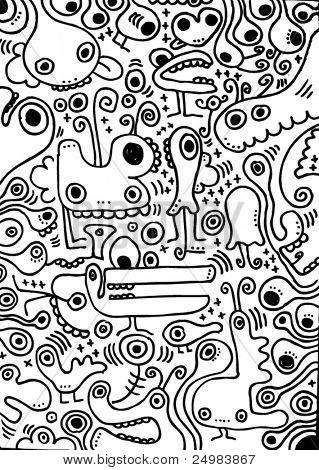freaky weird creatures doodles
