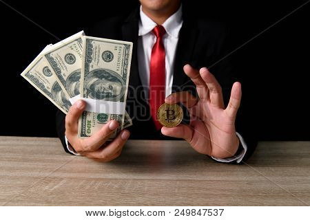 Finance Business Concepts. Lots of money on a black background. Investments are a necessity of business. poster