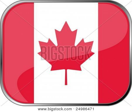 Canada flag icon with official coloring