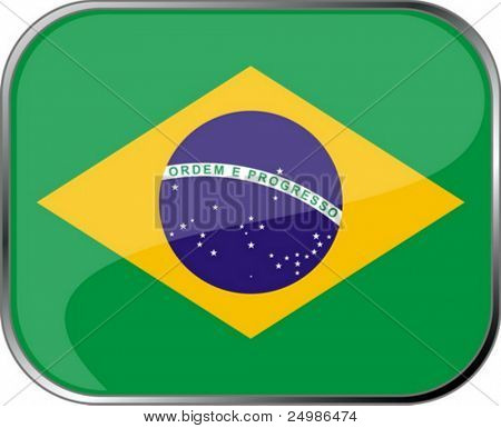 Brazil flag icon with official coloring