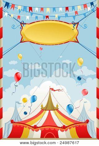 Cartaz de circo com espaço para texto