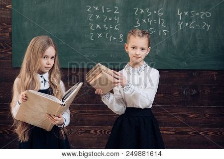Modern School. Modern Girls In School. Modern School Concept. Modern Education Of Pupils. Together S