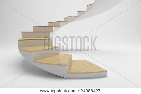 Spiraal trap naar succes, de weg naar financiële vrijheid