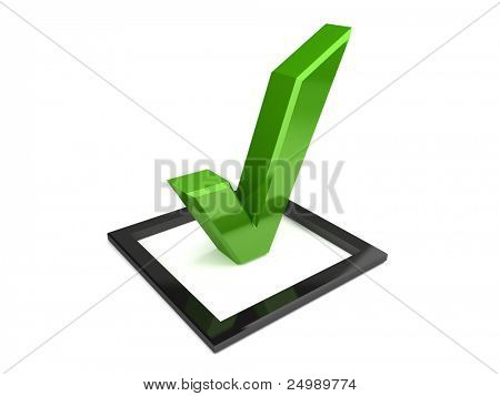 Isolated check mark