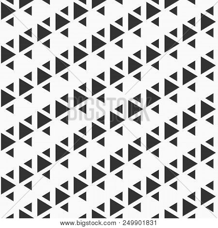 Abstract Seamless Pattern Of Triangles. Modern Stylish Texture. Repeating Geometric Triangle Tiles.