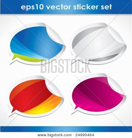 Modern web2 style empty vector stickers or bubbles