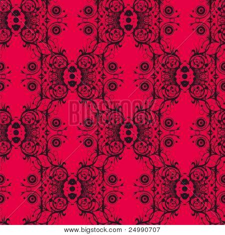 Seamless pattern - black lace
