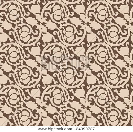 Seamless luxurious chocolate pattern
