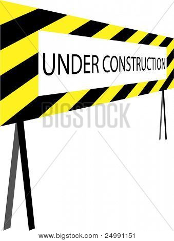 3D under construction sign good for webstites