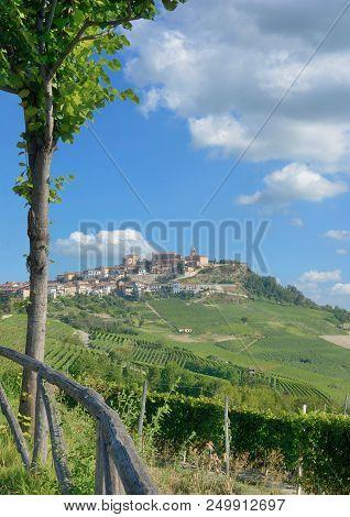 Wine Village Of La Morra In Piedmont Near Asti,italy