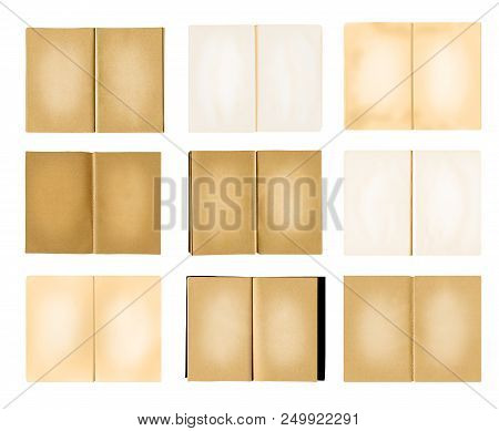 Brown Note Book Collection Isolated